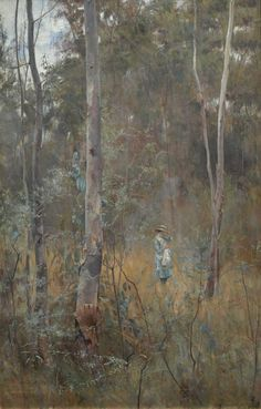 """Lost"" - Frederick McCubbin 1886. National Gallery of Victoria Painted at Box Hill. I have always loved this painting."