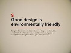 9. Dieter Rams: Principles for Good Design