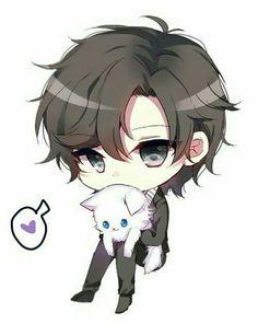 Immagine di mystic messenger, jumin han, and anime Chibi Kawaii, Chibi Boy, Cute Anime Chibi, Cute Anime Guys, Kawaii Anime, Kawaii Drawings, Cute Drawings, Jumin X Mc, Jumin Han Mystic Messenger