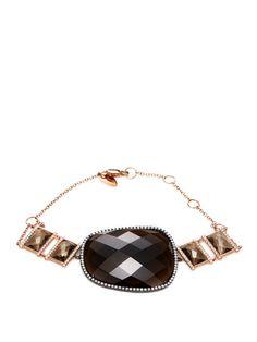 Smokey Topaz & Pave Diamond Bracelet from Meira T Fine Jewelry on Gilt