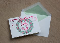 Merry & Bright Foil and Letterpress greeting card by Meticulous Ink