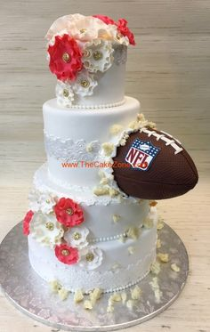 Masterfully executed - TheCakeZone.com  #footballwedding