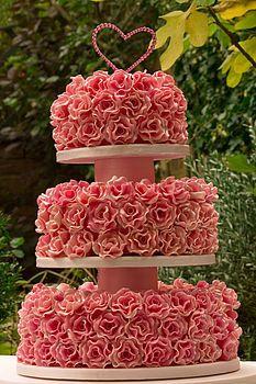 Mille Fleur Three Tier Wedding Cake