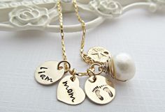 Mom Necklace Hand Stamped Jewelry by Daisymetalcreations on Etsy, $46.00