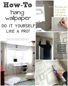 Tutorial + Tips + Tricks for hanging wallpaper. Do It Yourself but get the results of a PRO! Splurge on the paper / Save money on the install.