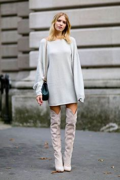 fine knit sweater dress