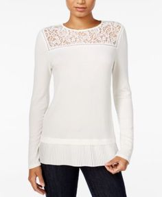 Maison Jules Lace-Trim Top, Only at Macy's