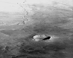 Meteor Crater in Arizona, USA as seen from 30,000 feet (Oct, 2013) - Photo taken by BradJill