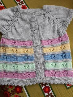 Easy Knitting Patterns, Knitting Stitches, Knitting Designs, Baby Knitting, Crochet Jacket, Crochet Cardigan, Baby Sweaters, Girls Sweaters, Baby Coat