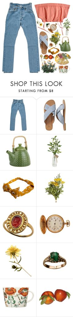 """""""my eyes are wide like cherry pies"""" by ladykrystal ❤ liked on Polyvore featuring Vetements, Gap, Pier 1 Imports, Paper Whites, Waltham and iittala"""