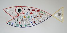 Alexander Calder used wire and found objects in his sculpture of a fish in the Hirschhorn Museum in Washington DC.