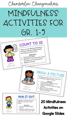 Keep your students calm and focused with these 20 mindfulness activities designed for distance learning and summer activities/work. Each activity includes a short description and directions that students can follow independently. The descriptions are editable on Google Slides so that you can customize this resource to fit your students' needs.