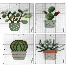 Cross Stitch Art, Cross Stitching, Cross Stitch Embroidery, Cross Stitch Patterns, Cactus, Plastic Canvas Crafts, Crossstitch, Doilies, Pixel Art