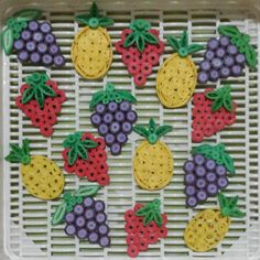 fruit series #paperquilling #paperart #quilling #fruit #grape #strawberry #pineapple