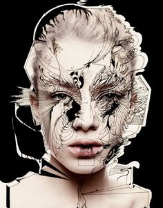 : Rankin & Alex Box: Fotografie und Make-up - Fantastic and strange - Velvet .: Rankin & Alex Box: Fotografie und Make-up - Fantastic and strange - Alex Box, John Rankin, Make Up Art, Photocollage, Makeup Box, Makeup Ideas, Makeup Inspo, Fantasy Makeup, Creative Makeup