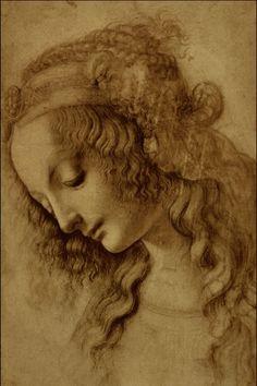 Woman's head. Leonardo da Vinci (1452-1519).