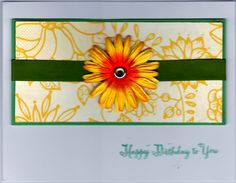 Happy Birthday Yellow Daisy Handmade Good Greeting Supply Card