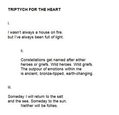 Triptych for the Heart poem Pretty Words, Beautiful Words, R M Drake, Come Undone, Poem Quotes, Word Porn, Writing Inspiration, Writing Prompts, Verses