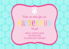 Easter Egg Hunt Printable Invite - Dimple Prints Shop