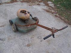 Antique Bolens Lawnmower Push Mower Vintage 1953 54 with pow R Pac Engine Tag 60 | eBay