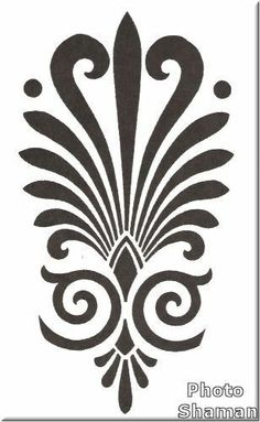 Stencil Stencil Patterns, Stencil Designs, Embroidery Patterns, Stencils, Stencil Art, Motifs Islamiques, Home Bild, Diy And Crafts, Paper Crafts
