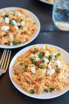 Buffalo Chicken Quinoa Salad.   It sounds so odd but I love buffalo and I love quinoa so am going to have to try it.