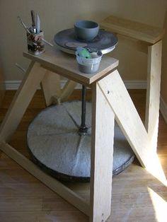 DIY kick wheel...I'm making this!!!!!