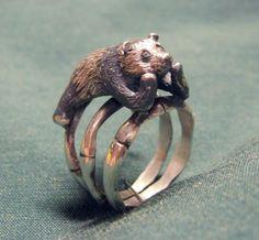 Изготовление кольца в виде Панды - Ярмарка Мастеров - ручная работа, handmade