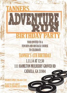 Free FREE Template Obstacle Course Birthday Party ...