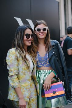 New Yorkers pull out their best for #NYFW. [Photo: Liz Devine]