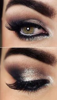#eyes #eye #occhi #makeup #trucco #golden #silver #glitter #capodanno #newyearseve