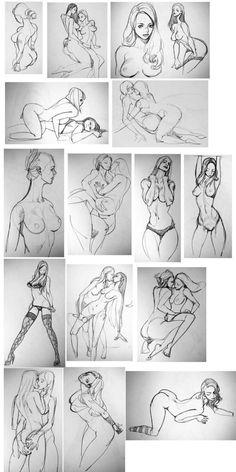 Cool Sketches, Drawing Sketches, Art Drawings, Figure Sketching, Figure Drawing Reference, Drawing Templates, Human Art, Drawing Skills, Body Drawing