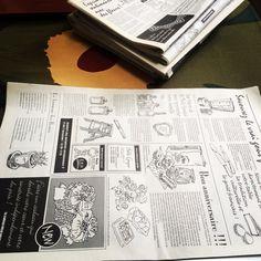 英字新聞風包装紙