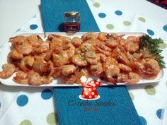 Camarões Flambados na Vodka e mel de pimenta malagueta - Cozinha Simples da Deia