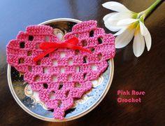 PINK ROSE CROCHET /: Coração Rosa Pink