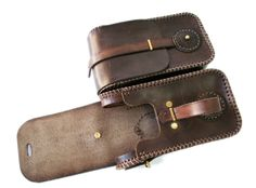 Steampunk leather twin pouch 5 by AmbassadorMann.deviantart.com on @deviantART