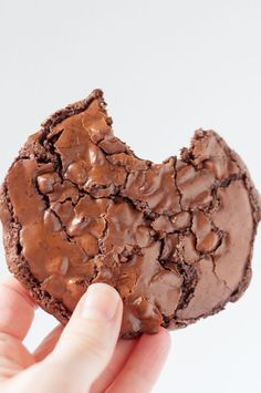 Chewy, Fudgy Flourless Chocolate Cookies