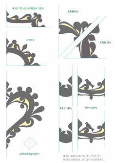 スクラップブッキング,フレーム,手作り,作り方、折り紙、切り紙、型紙、図案