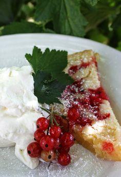 Vinbärskaka – madameedith.ts.betaurl.se Just Bake, Dessert Bars, Caprese Salad, Sweet Tooth, Sweet Treats, Food And Drink, Favorite Recipes, Sweets, Cookies