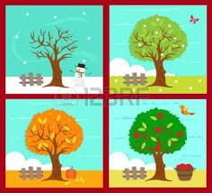 Illustration about Vector illustration of the four season. Illustration of butterfly, blossom, illustration - 31607862 Four Seasons Image, Weather For Kids, Preschool Craft Activities, Weather Seasons, Landscape Artwork, Shadow Puppets, Seasons Of The Year, Illustration, Clipart