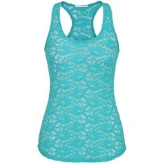 maurices Floral Open Lace Racerback Tank ($8.49) ❤ liked on Polyvore featuring tops, shirts, tank tops, tanks, aqua crush, racerback tank, aqua shirt, lace racerback tank, floral print shirt and lace tops