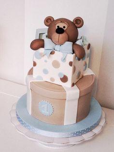 Teddy bear cakes, novelty cakes, baby boy cakes, cakes for boys, baby Baby Boy Cakes, Cakes For Boys, Baby Shower Cakes, Pretty Cakes, Cute Cakes, Beautiful Cakes, Fondant Cakes, Cupcake Cakes, Rodjendanske Torte