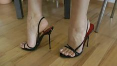 Sexy, strappy almost mules