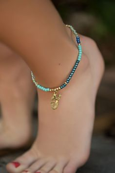 A new collection of ankle bracelets just in time for Spring break, Summer Music Festivals, Beach style and pool sitting #beachjewelry #anklebracelets #mermaid