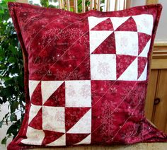 Excited to share the latest addition to my #etsy shop: Deep red and pale ivory patchwork quilted pillow cover. Sheltering trees, houses Handmade Pillow Covers, Quilted Pillow, Tree Print, Red Fabric, Decorative Cushions, Pillow Inserts, Modern Farmhouse, Trees, Ivory