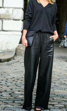 Full leather pants