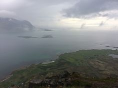 Hoven. Lofoten. Norway. Hiking. Trekking. Foggy