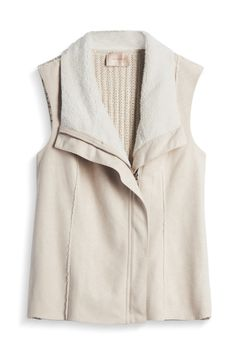 Faux Sueded Vest by Skies Are Blue