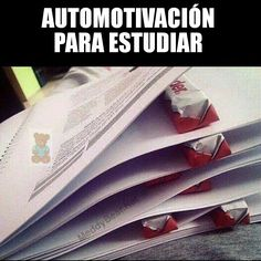 Self motivation to study. I'm going to try this. Voy a tratar ésta