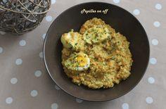 Curry de lentilles corail aux œufs durs